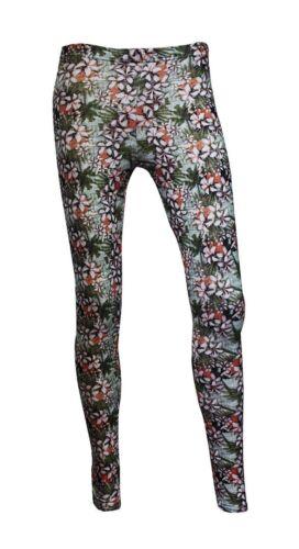 Tropical Vintage Exotic Floral Oriental Print Leggings