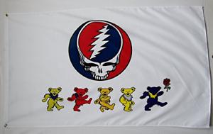 Nug Grateful Dead Dancing Bears Flag 3x5 Feet Indoor outdoor Rock Banner