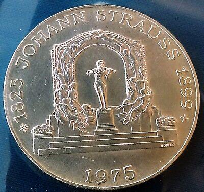 1975 Austria 100 Schillings Johann Strauss Commemorative Gem Proof Silver Coin