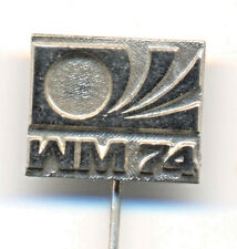 GERMANY 1974 FIFA Football World Cup WM 74 Fussball Anstecknadel Logo pin-GLOSSY
