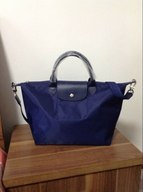 Clearance Longchamp Le Pliage Neo Medium Handbag Authentic Navy Available a0a531a7bb2ba