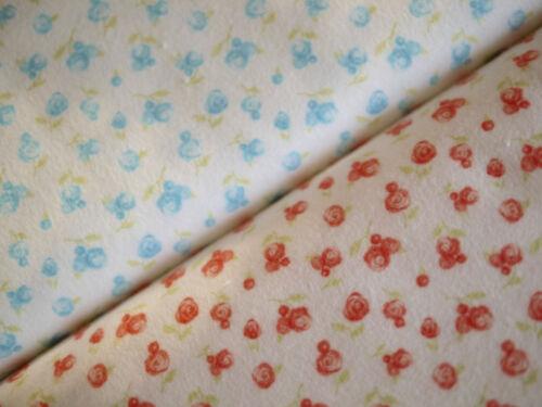 Blumen MODA Patchworkstoff,SWEET BABY by Abi Hall Flanell 2 Farben