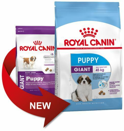 Food for puppies race GIANT (Up to 8 months) Royal Canin GIANT PUPPY 15Kg