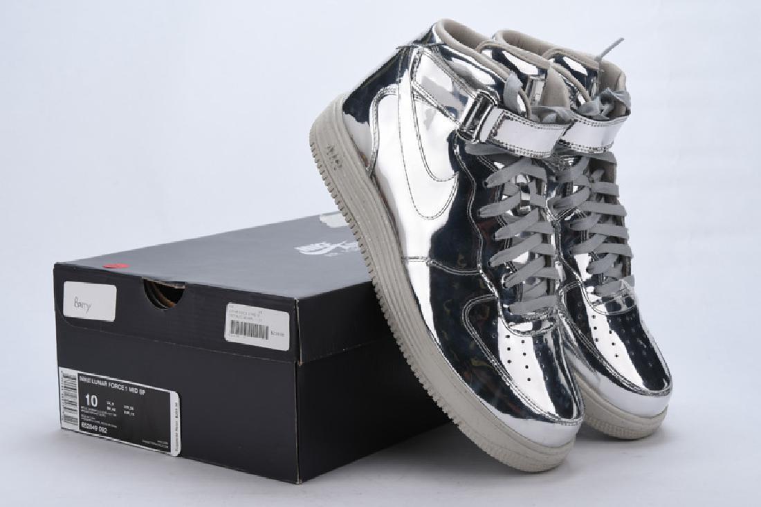 Nike Lunar Force 1 Mid SP 652849-092 Metallic Silver Men Size 10 Sneakers DS