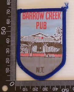 VINTAGE-BARROW-CREEK-PUB-AUSTRALIA-EMBROIDERED-SOUVENIR-PATCH-WOVEN-SEW-ON-BADGE