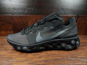 Nike React Element 55 (Triple Black