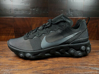 Malversar Perversión insuficiente  Nike React Element 55 (Triple Black / Dark Grey) [BQ6166-008] NSW SOLD OUT  | eBay