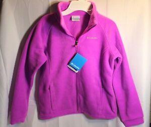 ca85ba515 New Girls Columbia Three Lakes Zip Fleece Jacket Magenta (pink ...