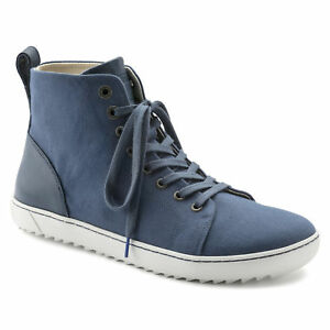 b60c47bbc34d Image is loading Birkenstock-Textile-Leather-BARTLETT-Sneaker-Navy-38-Narrow -