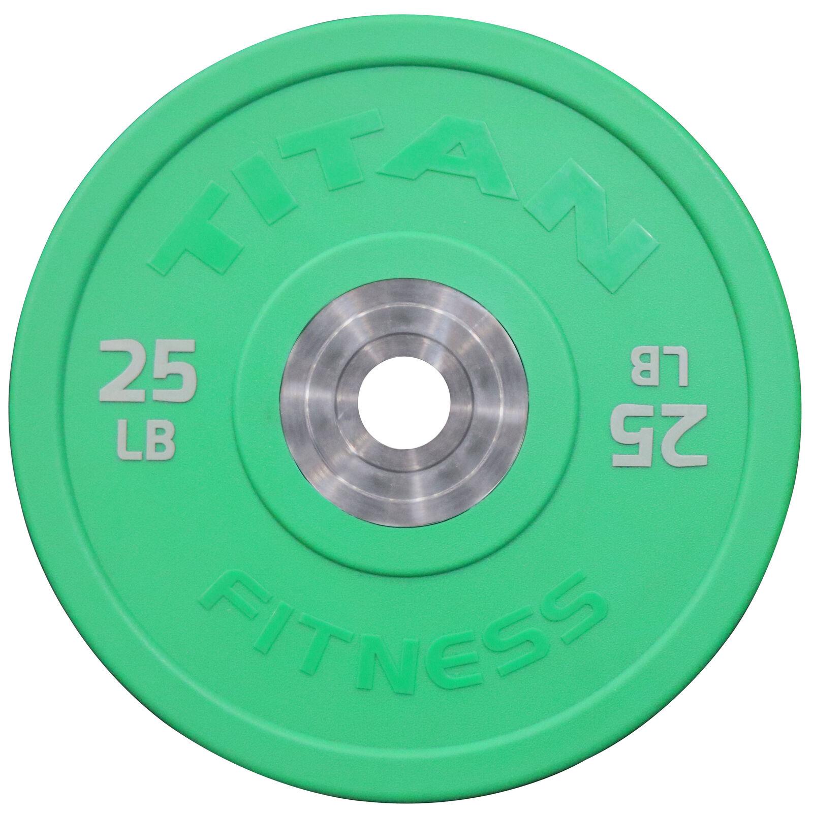 Titan Urethane Bumper Plates   color   25 LB Single