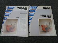 Norton Clipper C355 Concrete Saw Owner Operator Maintenance Manual Set
