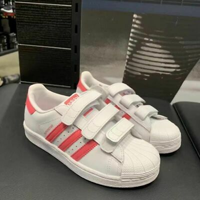 Adidas Superstar CF C Little Kids Shoes Footwear White-Real Pink-Pink CG6621