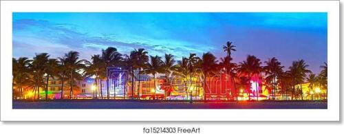C Florida Hotels And Art Print Home Decor Wall Art Poster Miami Beach