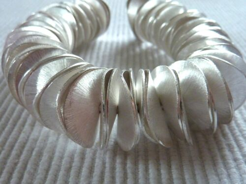 Métal Perle ondulées en arc vitre Spacer Argent 8-20 mm Zwischenteil 2640