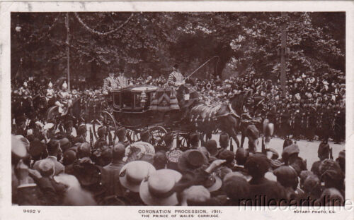 ROYALTY Coronation Process 1911 The Prince of Wales Carriage