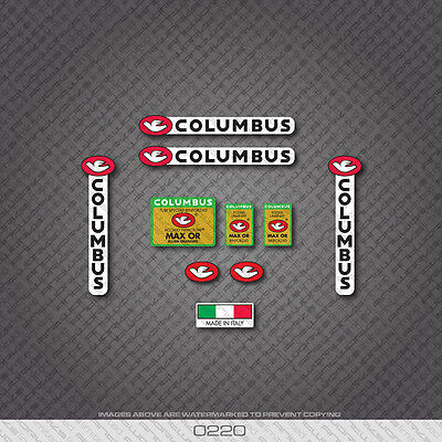 Decals 0028 Columbus AELLE Bicycle Frame and Fork Stickers
