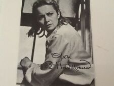 "Olivia de Havilland SIGNED 3x5 Book Photo from Movie ""The Snake Pit""  GWTW Star"
