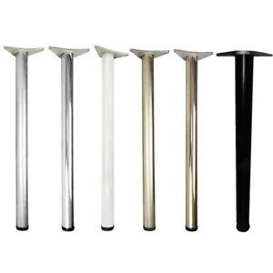 870 mm Adjustable Chrome Breakfast Bar Worktop Support Table Leg 60 mm Diameter