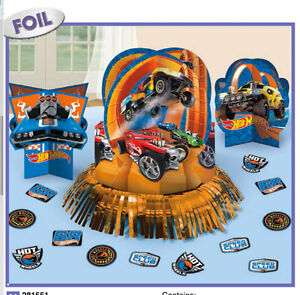 Image Is Loading Hot Wheels WILD RACER Table Decoration Kit Boys