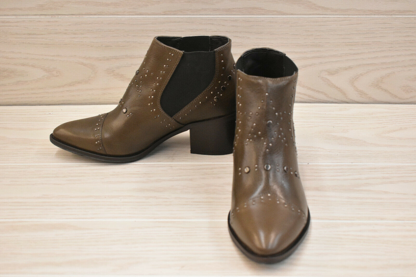 Andre Assous Frankle Ankle Boots, Women's Size 8, Brown NEW