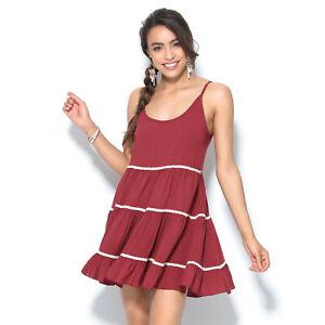 Vestido de tirantes con puntillas espalda escotada mujer - 001518