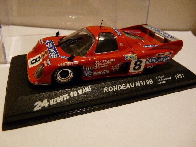 24H33M 1/43 IXO Altaya 24 heures du Mans : RONDEAU M379B 1981 rouge