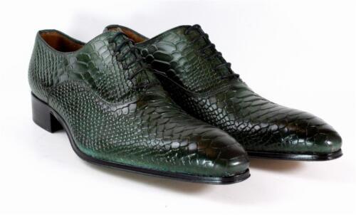In Coccodrillo Verde Artigianale Uomo Italiana Troia Eleganti Pelle Ivan Scarpe WZXa6qtx