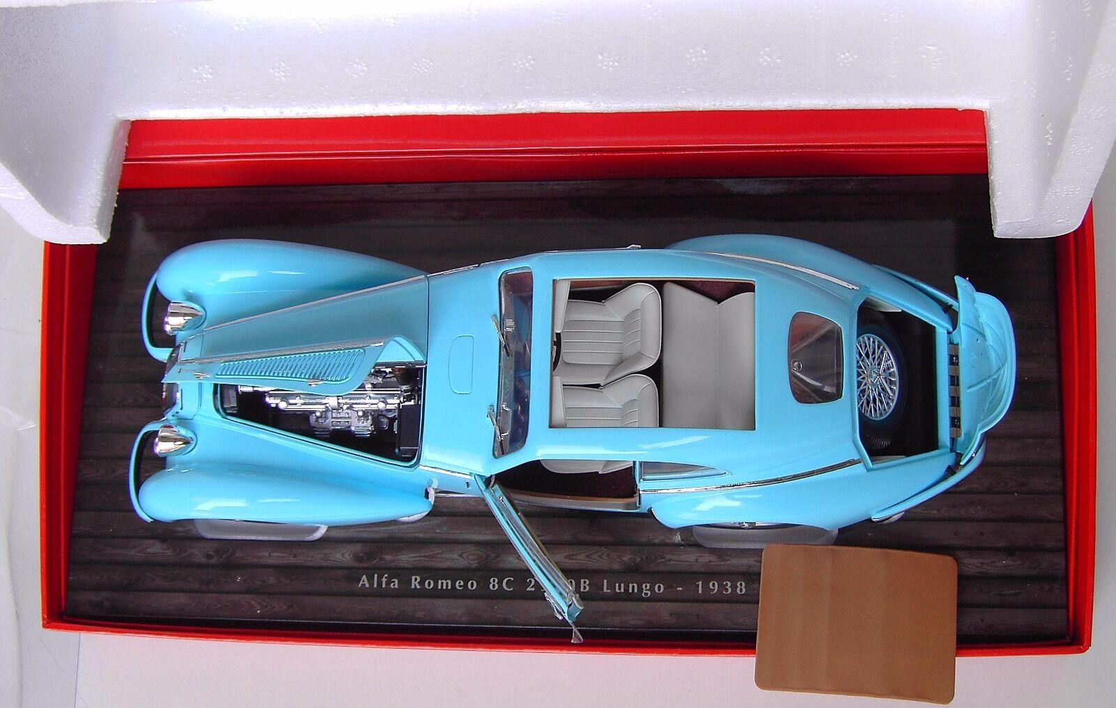 1:18 Minichamps NIB  Alfa Romeo 8C 8C 8C 2900 B Lungo 1938 lightBleu  (Die-cast)   économie  c4c871