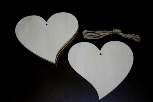 10 Stk Holzherzen 9cm Herzen aus Holz Dekoherzen Hochzeitsdeko Decoupage (6)