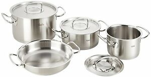 fissler pro collection 4 piece cookware set profi professional range. Black Bedroom Furniture Sets. Home Design Ideas