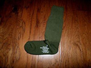 NEW MILITARY ISSUE CUSHION SOLE WOOL BLEND SOCKS U.S.A MADE OD GREEN