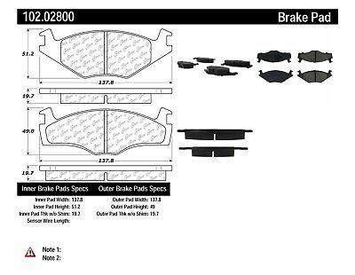 Disc Brake Pad Set-C-TEK Metallic Brake Pads Front Centric 102.11590