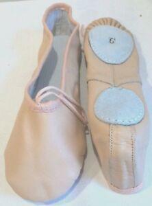 Melocotón Cuero 2 Suela Zapatos De Ballet Bombas Para Adultos Talla 6 y 6.5 - Danza, Yoga