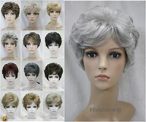 Short-Curly-Women-Ladies-Natural-Daily-Hair-wig-Hivision-12-Color