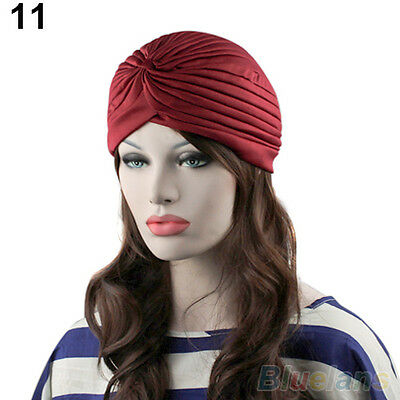 Classy Unisex Indian Style Stretchable Turban Hat Hair Head Wrap Cap Headwrap