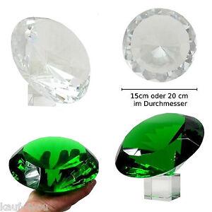 Vetro Diamanti Verde & Bianco 20 cm o 15 cm CRISTALLO VETRO sfaccettature Diamanti