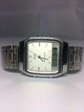 Vintage Men's Citizen Watch Analog Digital Alarm Chronograph T011-312619 KA