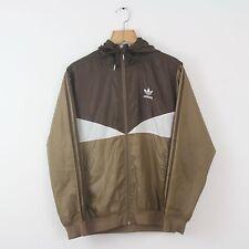 Vintage ADIDAS ORIGINALS Brown Soft Shell Jacket Coat | Retro Trefoil | Small S