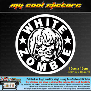 White-Zombie-10cm-Vinyl-Sticker-Decal-4X4-Ute-Car-window-band-music-metal-rock