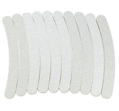 50 x Nail Files Sanding 100/180 Curve Banana for Nail Art Tips Manicure Grey