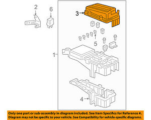 Details about HONDA OEM 05-10 Odyssey Electrical-Fuse & Relay Box Upper  Cover 38254SHJA02