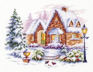 Magic Needle Cross Stitch Winter Cottage