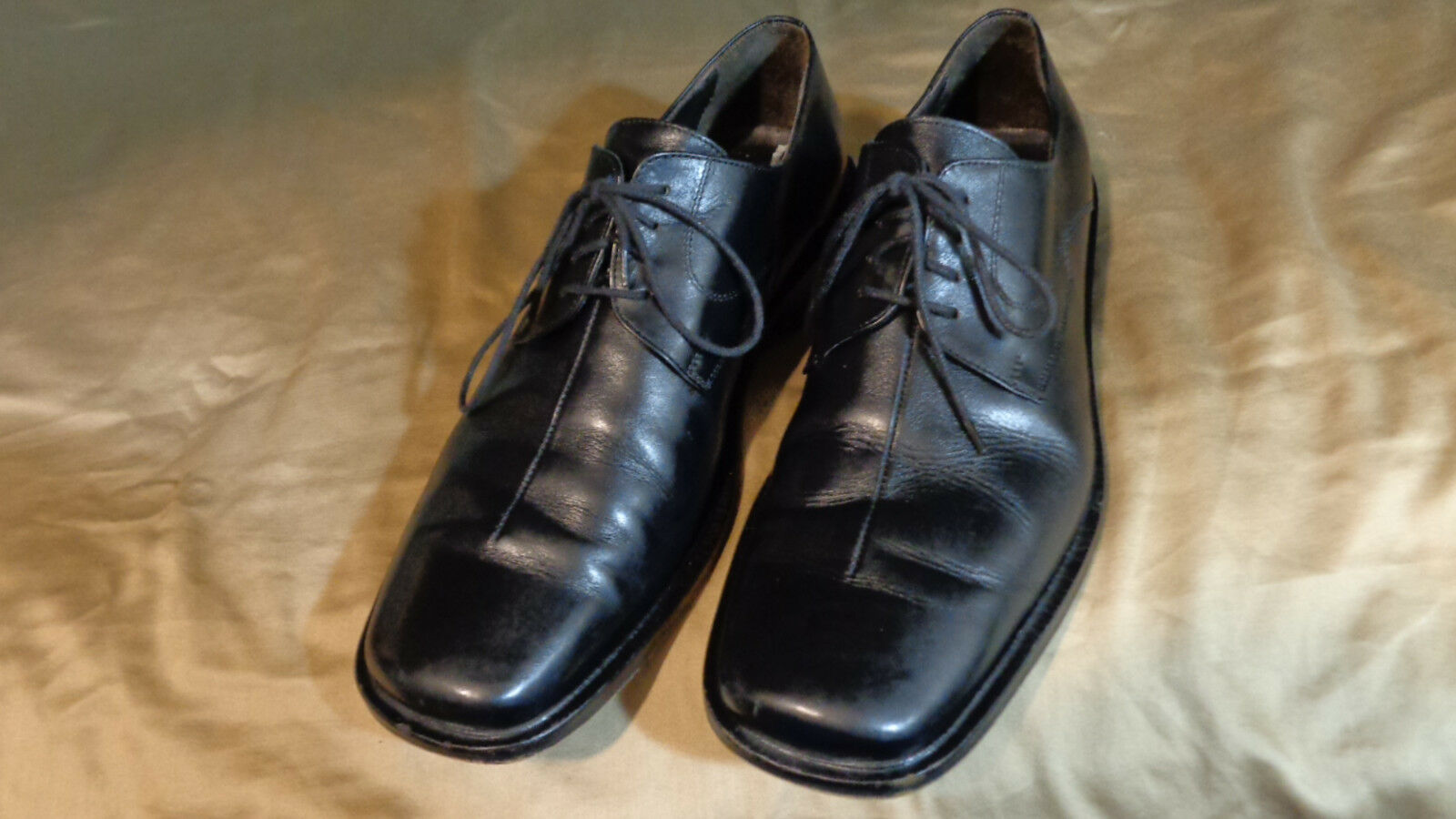 JOHNSTON & in MURPHY - Sz 10 M - Handcrafted in & Italy -FREE SHIP 9d7925