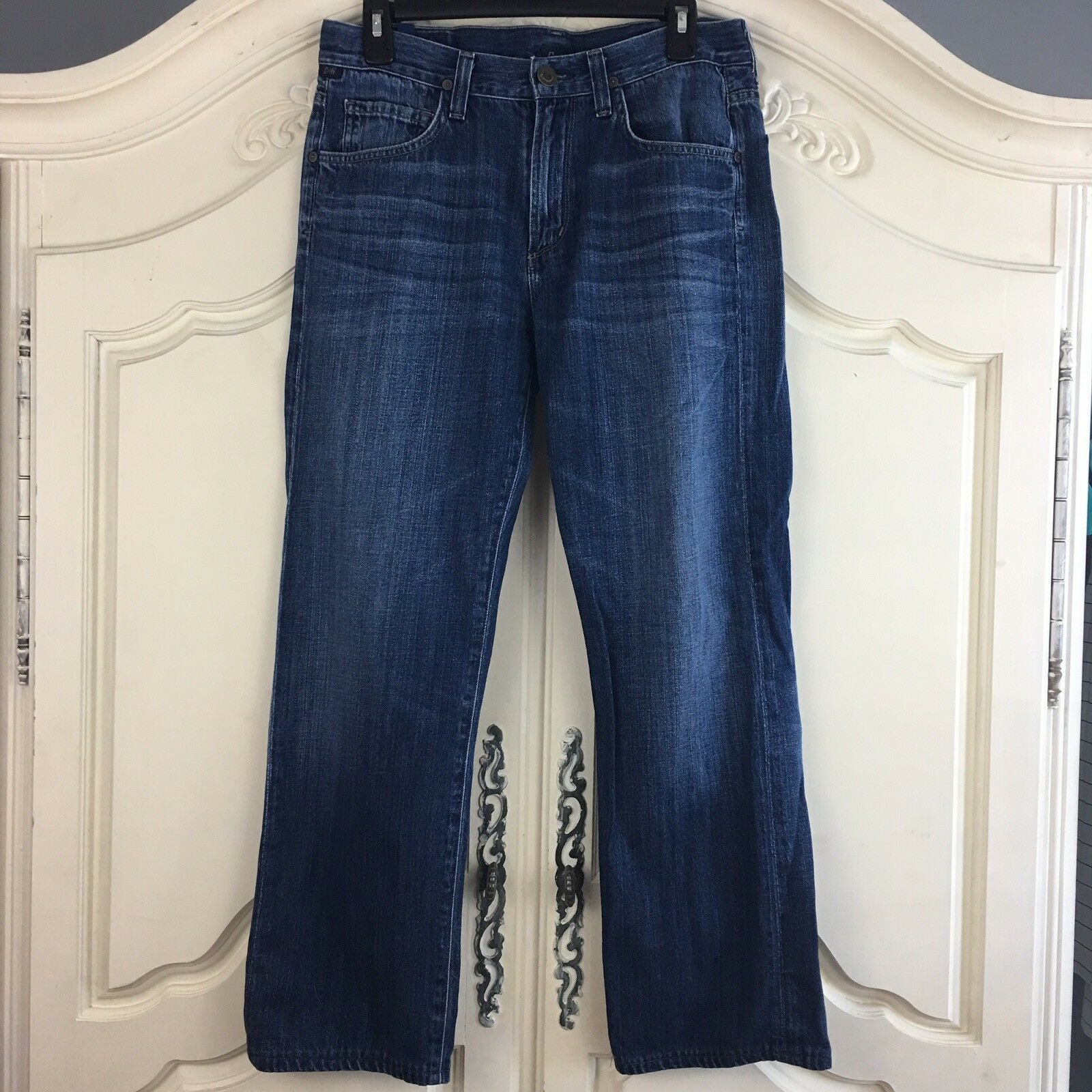 Citizens of Humanity Sid COH Sid Straight Leg Jeans Pants Dark Wash Size 32 x 27