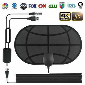 Digital HDTV Interior Antena con TV Cable Aéreo Amplificador 50 Millas 4K 1080P