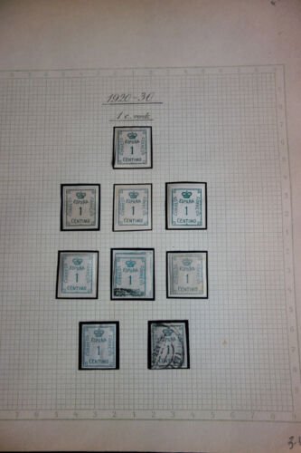Spanish Colonies Very Unusual Early Stamp Collection on pages