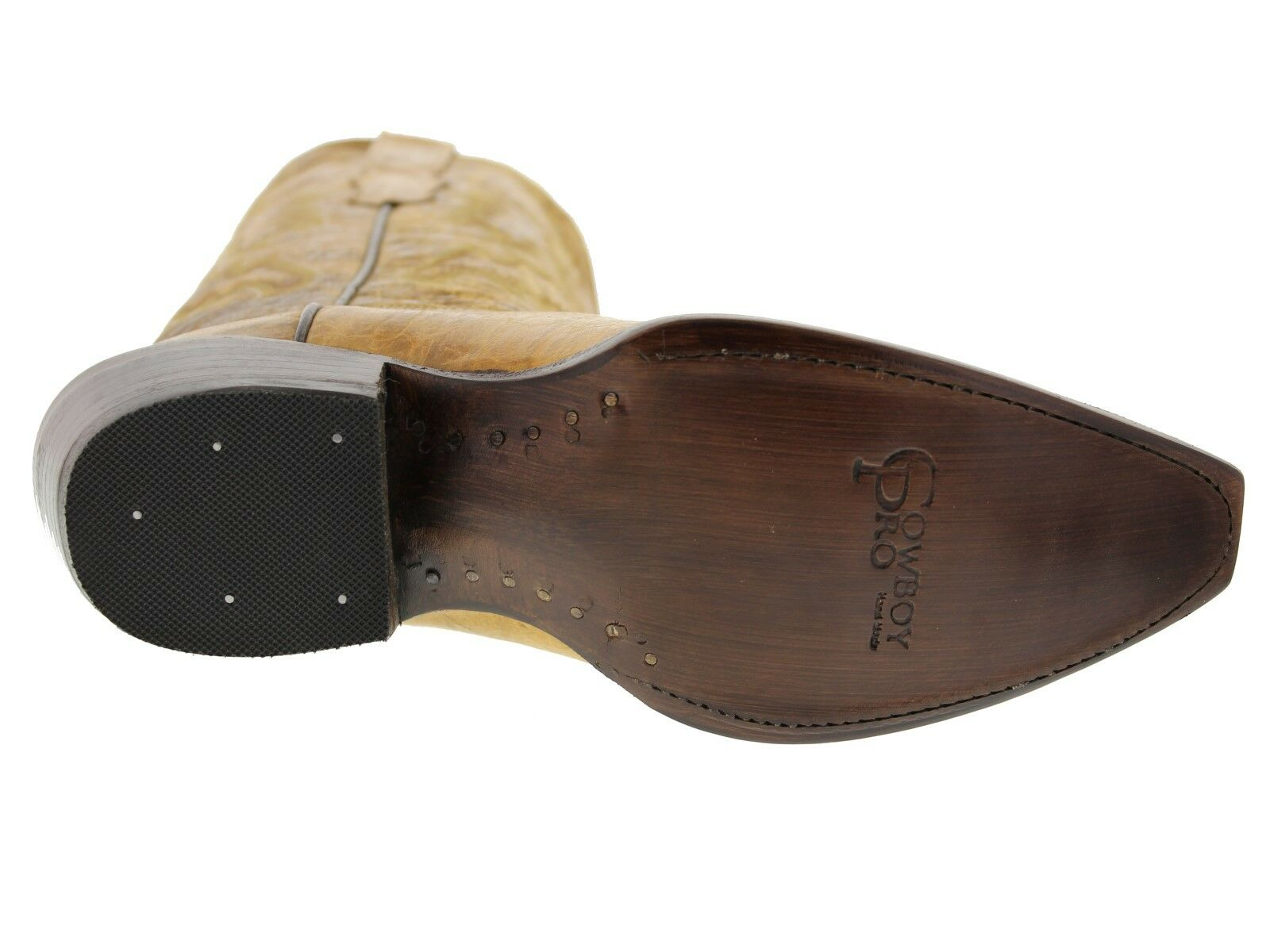Donna Tanned Plain Classic Western Casual Style Cowboy Stivali Plain Tanned Pelle e488b5