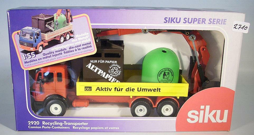 SIKU 1 55 Mercedes Benz recyclage Transporteur ÖTV publicitaires modèle neuf dans sa boîte  2710