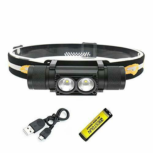 2000 Lumen Head Torches LED Super Bright XML-L2 Beams// Head Torch Rechargeable