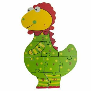 Orange Tree Toys Wooden Dinosaur Number Puzzle